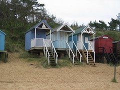 Grey day in Wells (Papa H) Tags: wells beachhuts