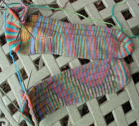 Sock Knitting Progress