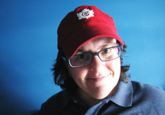 wannabe canadian (day 182) (jspad) Tags: blue red selfportrait baseballhat day182 happycanadaday 365days