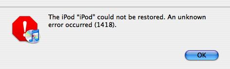 iPod error