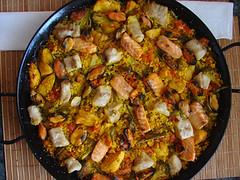 paella de pescado y pollo + tb 1000 visitas
