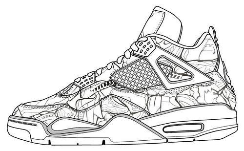 Lebron James Shoes 11 Coloring Pages