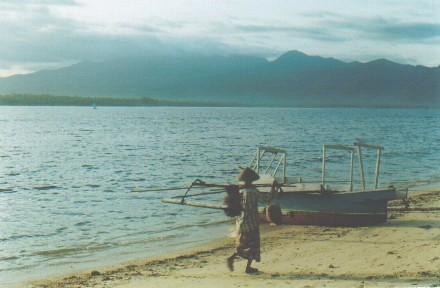 fisherman on Gili Air