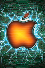 Electric Apple (Photo Giddy) Tags: wallpaper logo ipod applestore wallpapers iphone ipodtouch iphonesavior