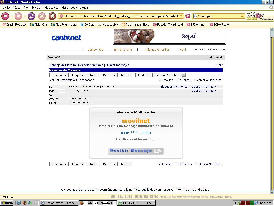Alerta de Seguridad para usuarios CANTV - Con-Cafe.com