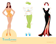 Paper Doll - Illustration (Carlos N. Molina - Paper Art) Tags: woman art fashion illustration digital paper de design mujer doll barbie free transgender latina papel prevention vector hivaids mueca paperdolls printable transgnero wwwcarlosnmolinacom carlosnmolina papergenius translatina