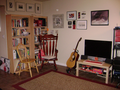 the library, music room, and entertainment room portion