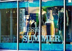 Summer Reflections (Mwesigwa) Tags: windows summer mannequin window shop canon reflections store dresses windowshopping shoptilyoudrop 40d