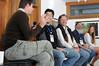 A breakfast talk Image & Impact with Alex Beard, Chris Jordan, Chris Rainier and Jeff Zenick
