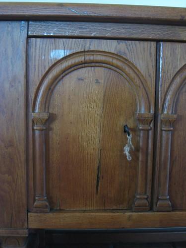 Arched panel door
