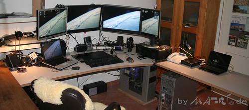 MAFRI's desk at night in june 2010