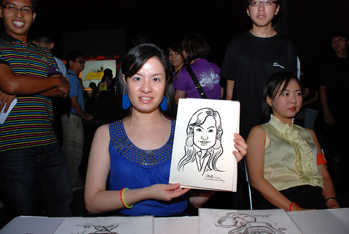 caricature live sketching for SDN First Anniversary Bash - 9