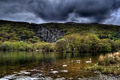 Dinorwic Quarry (Tony Shertila) Tags: sky reflection water weather wales europe day cloudy britain explore llanberis quarry hdr gmt llynpadarn dinorwicquarry yahooweather