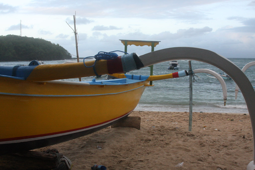 Boat on the beach, Padang Bai