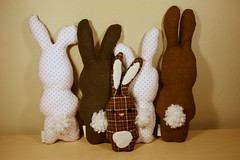 IMG_2733.2010.03.plushies (tlamb) Tags: bunny bunnies toy soft handmade sewing craft sew plushies homemade stuffedanimals rabbits collectible sewingmachine crafting plushy babytoy babygift stuffedplushie
