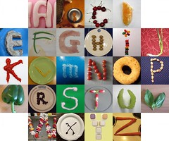 Edible letters