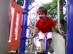Zeke on the slide