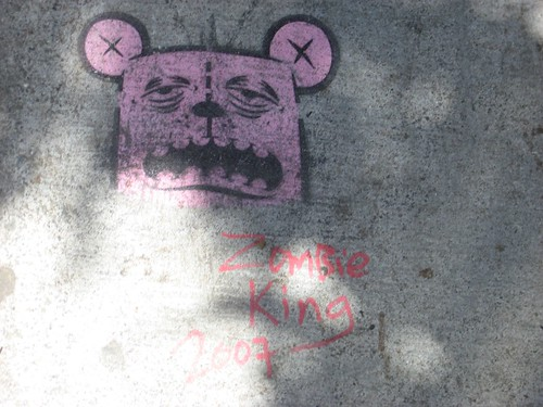Zombie King Stencil on Valencia