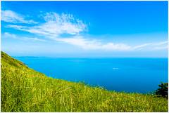 Azure (Stefan Elf) Tags: sea summer hot grass coast boat saturated walk azure 1735mmf28d pembrokeshire soe questfortherest nikond200 10faves nikkor1735mmf28 superhearts ysplix printsavailableonrequest platinumheartaward excapture