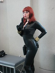 Black Widow (comiquero) Tags: black costume sandiego cosplay disguise disfraz widow comiccon 07 2007 sdcc2007 sdcc07 comiquero