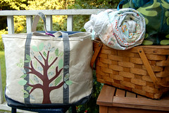 beach bags (SouleMama) Tags: tree bag applique