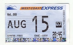 West Coast Express Ticket