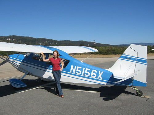 Kathleen and N5156X at Half Moon Bay
