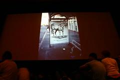 Slide of horse by Reminisce (Ruby Neri) (fotoflow / Oscar Arriola) Tags: sf sanfrancisco horses horse chicago bus art graffiti san francisco artist mcgee twist stop artists barrymcgee barry graff ruby shelter twister neri reminisce rubyneri