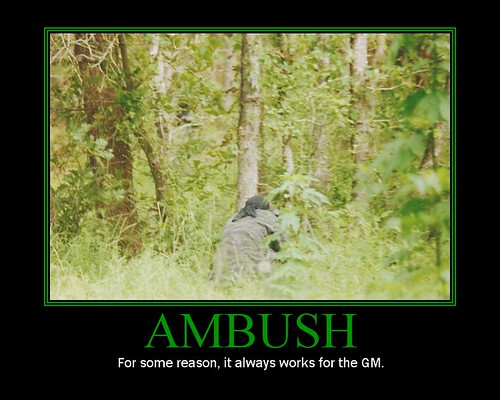 My Motivational Poster - Ambush (RPG Ver), demotivational posters, funny motivational posters