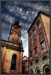 Old buildings (Kaj Bjurman) Tags: architecture clouds sweden stockholm gamlastan oldtown hdr kaj 2007 flickrelite bjurman