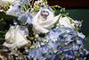 blue flowers blue ring wedding photo