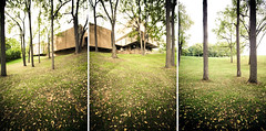 School of Music triptych (numstead) Tags: autumn trees fall architecture triptych michigan lawn annarbor september arbor northcampus eerosaarinen universityofmichigan efs1022mm schoolofmusic archidose earlvmoorebuilding