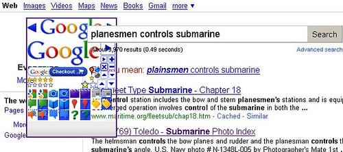 Weird Google Image Menu