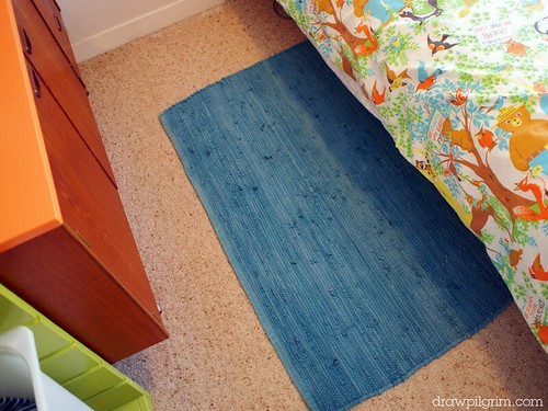 my son's new 'big kid' bedroom: rug