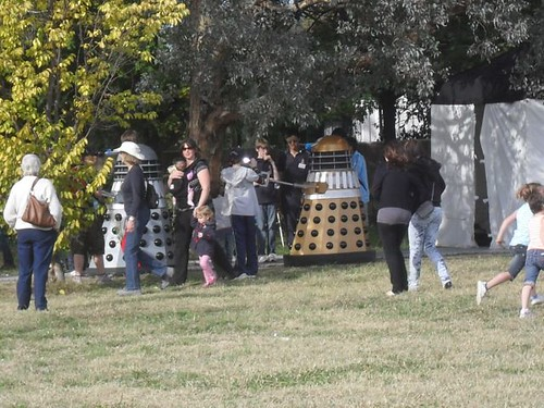 Daleks at the Inner North Community Fair in Canberra