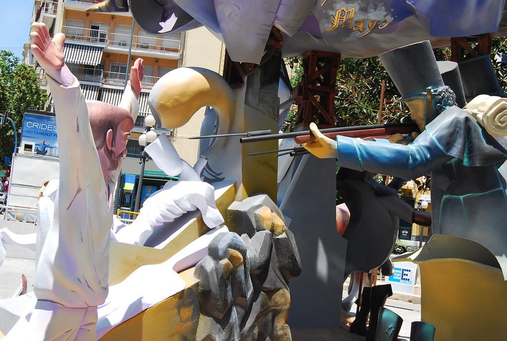 Fusilamientos goyescos en las Hogueras de Alicante 2010