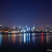 Manhattan at night from New Jersey shore