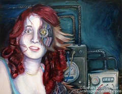 Connections (SarahLSpencer) Tags: scifi cyborg oilpainting
