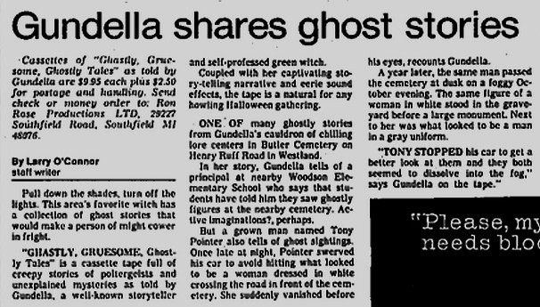Gundella shares ghost stories
