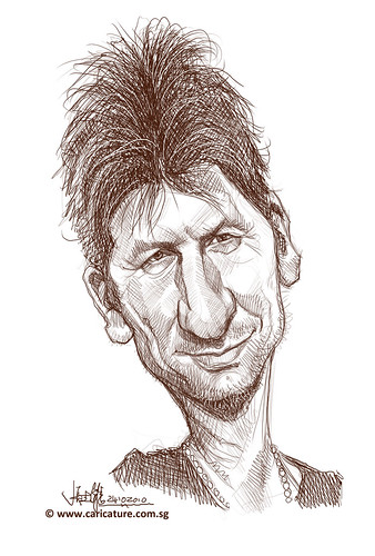 digital caricature of Andrew Nicholls