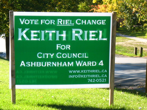 From the Punny Election Signs Department...