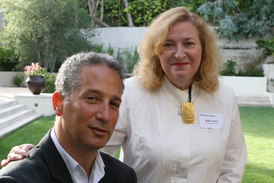 Board member Jeffrey Soros with Ruby Lerner