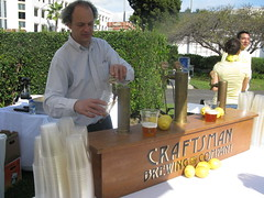 Craftsman's Mark Jilg manning the taps by Caroline on Crack