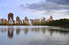 New York (Rafakoy) Tags: city nyc newyorkcity autumn lake ny newyork building fall water skyline architecture digital season nikon cityscape image centralpark manhattan images reservoir filter sample polarizer circular circularpolarizer centralparkreservoir jacquelinekennedyonassisreservoir afsnikkor18105mmvr nikond7000