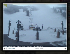 Copper Mountain Ski Area This morning.