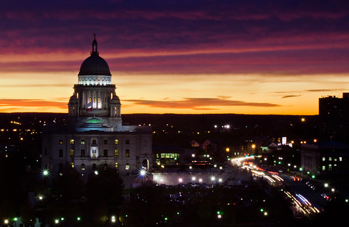State House at sunset