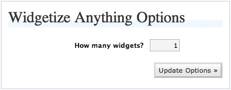 Widgetize Anything Options