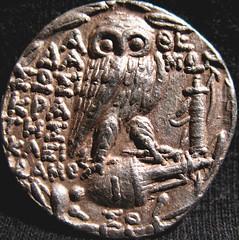 New Style Greek Tetradrachm, Athens, 109-108 BC (Valentinian) Tags: silver greek coin ancient tetradrachm