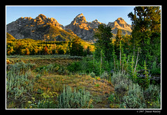 Morning Breaks (James Neeley) Tags: mountains sunrise bravo searchthebest tetons grandteton hdr grandtetonnationalpark naturesfinest magicdonkey 5xp anawesomeshot holidaysvancanzeurlaub goldenphotographer diamondclassphotographer flickrdiamond jamesneeley