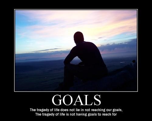 Трагедия жизни не во лжи о развитии наших целей. Трагедия в неимении целей, чтобы развивать